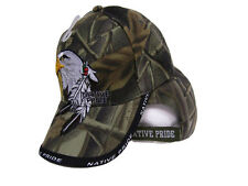 Native American Eagle Indian Native Pride Shadow Camouflage Ball Cap Hat