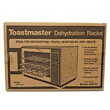 Vtg TOASTMASTER Broiler Convection Oven Chrome Steel Dehydration Racks