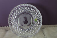 "BEAUTIFUL WATERFORD CRYSTAL 8"" CHRISTMAS PLATE - MOTHER & CHILD (IRELAND)"