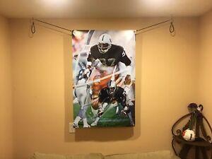 NEW HUGE 44x29 LESTER HAYES Vinyl Banner POSTER Oakland Raiders bo jackson art