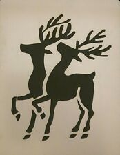 Christmas Reindeer snow spray  / card making stencils   Mylar 350 micron Rudolph