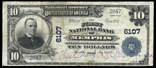 $10 1902 PB First National Bank of Memphis, Texas CH 6107  RARE TYPE ONLY 10 LRG