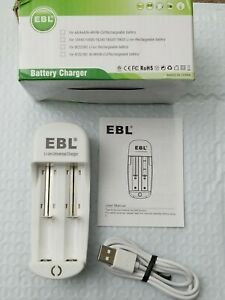 EBL Battery Charger For AA AAA C D NI-MH NI-CD Li-ion 9V Rechargeable Batteries