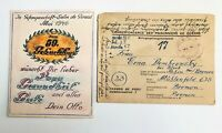 WW2 1946 OLD COVER PRISONER POST France to GERMANY Bremen - c-635