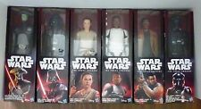 Star Wars Force Awakens 12 inch 6 Figure Set includes Rey, Vader, Finn(2), etc