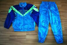 ADIDAS RETRO NYLON FULL TRACK SUIT JACKET TOP and PANTS SIZE SMALL D4 F168 RARE