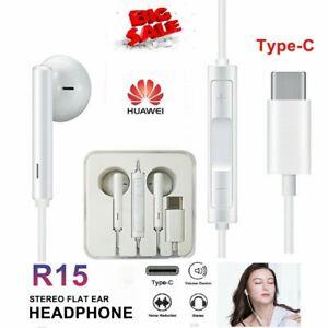 Type C USB C Earphones Headphones Huawei P20 Pro, Mate 20 Pro, P30 Pro, Samsung