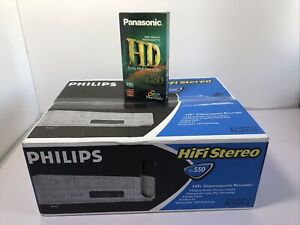 Philips VR550 VHS VCR Video Recorder NEW - SEALED + New Blank Tape