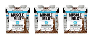 Muscle Milk 100 Calorie Protein Shake, Chocolate, 20g Protein, 11 FL OZ, 12