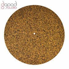 Quality Cork & Neoprene Rubber Record Turntable Deck Platter Mat, Hi-Fi Audio