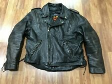 New listing Mens 46 - Vtg Hot Leathers Motorcycle Biker Heavy Leather Jacket