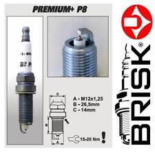 1x Brisk Iridium Premium+ Spark Plugs P8 (1626) BP8+