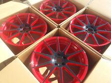 4 x Neu 19 zoll VW Golf GTI Alufelgen TEC GT7 Black Red 8,5 x 19 ET45 VW Golf