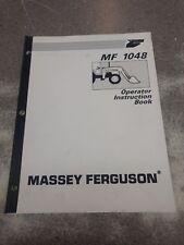Massey Ferguson 1048 Operator'S Manual 1449499M1