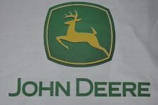 1 JOHN DEERE SEWING BLOCK QUILT FABRIC MATERIAL TRACTOR FARM SQUARE