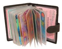 Leder Kartenbörse Kartenetui Visitenkarten Riegel Börse Etui Damen Herren Neu