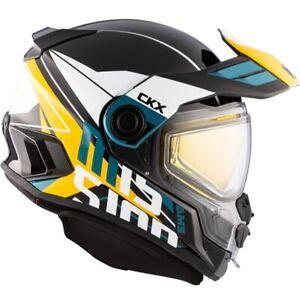 CKX Mission AMS Snowmobile Helmet Ramble Yellow/Blue Medium