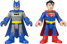 "Fisher Price DC Super Friends Imaginext Batman Superman XL 10"" Figure 2pk"