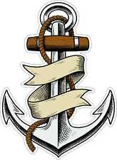 Aufkleber Sticker ANKER farbig Oldschool Tattoo Sailor Sea Pirats Anchor Navy