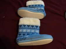 American Girl CL MY AG POLAR BEAR KNIT BOOTIES SMALL 1-3 for Girls Slippers NEW