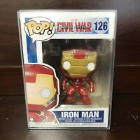 "Funko Pop Marvel Civil War Captain America : IRON MAN #126 Vinyl w/Case ""MINT"""