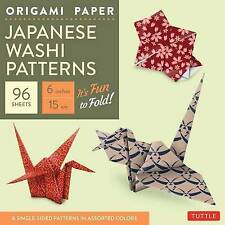 "Origami Paper - Japanese Washi Patterns - 6"" - 96 Sheets: Tuttle Origami Paper:"
