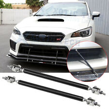 "8""-11"" Bumper Lip Splitter Spoiler Rod Strut Tie Bars Support for Subaru WRX STi"