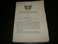 1885 REGIO DECRETO NUOVA STRADA PROVINCIA DI TERAMO PENNE MONTESILVANO