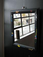Wandspiegel modern schwarz Spiegel Dekospiegel Wohnraumspiegel 60 x 50 cm Neu