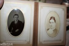Antique album of tintypes & calling cards mid 1800s Possibly early Jewish photos