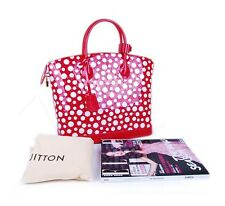 New Louis Vuitton Yayoi Kusama Dots Infinity Lockit MM Red 100% Auth
