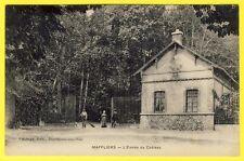 cpa RARE 95 - MAFFLIERS (Val d'Oise) L' Entrée du CHÂTEAU Animé