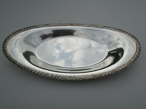Vintage Henley Oneida Community LTD Silver Plated Oval Embossed Serving Dish