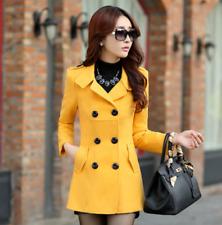 US-L Womens Winter Double Breast Slim Fit Outwear Lady Warm Coats Jackets Blazer