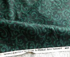 Linen Union Interiors Fabric 'Sarameti' by Whiteheads Fabrics Black & Green