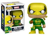 Marvel Iron Fist Green & Gold Funko Pop Vinyl NEW IN Mint BOX + Protector