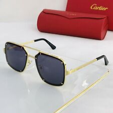 Cartier sunglasses CT0194S Gold frame/grey lens square unisex New