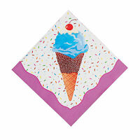 I Scream For Ice Cream Luncheon Napkins - Party Supplies - 16 Pieces