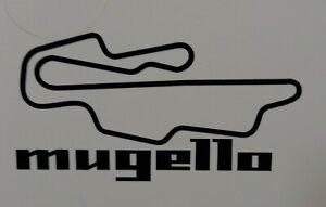 "Mugello Race Track 5"" x 2.5"" lambretta vespa Camper Van car  Decal bike"