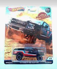 Hot Wheels 1/64 3 inch '17 Ford F-150 Raptor Desert Rally Premium Series