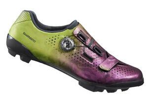 Shimano RX8 Carbon Gravel MTB Cycling Shoes Purple Green SH-RX800 42 (US 8.3)