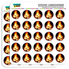 """Campfire Camp Camping Fire Pit Logs Flames 1"""" Scrapbooking Crafting Stickers"""