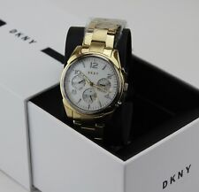 NEW AUTHENTIC DKNY CROSBY GOLD CHRONOGRAPH LADIES WOMEN'S NY2471 WATCH