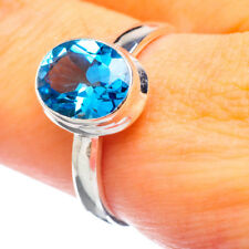 Large Swiss Blue Topaz 925 Sterling Silver Ring Size 9 Ana Co Jewelry R864260