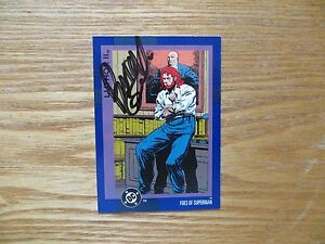 1993 IMPEL DC II COSMIC LUTHOR II CARD SIGNED JACKSON GUICE, WITH POA
