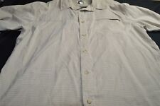 Magellan Tan XL Model Poly Button Short Sleeve Men's Shirt
