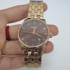 38mm Parnis Rose Glod Case Bracelet Miyota Automatic Movement Men's Luxury Watch