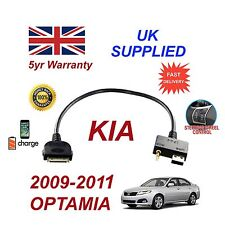 For KIA Optima iPhone 3 3gs 4 4S iPod USB & 3.5mm Aux Cable 2009-2011