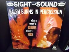 Ralph Burns In Percussion Where There's Burns There's Fire LP Coral VG+ shrink