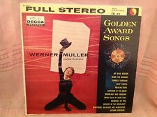 WERNER MULLER  Golden Award Songs LP Decca Records VInyl DL-78887 Stereo